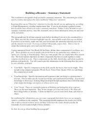 exles of a summary on a resume exles of resume summary statements resume for study