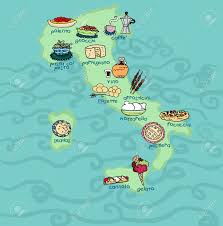 Map If Italy an original food map of italy digital stock photo picture and