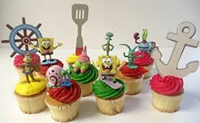 spongebob squarepants cake spongebob squarepants 11 birthday cupcake topper