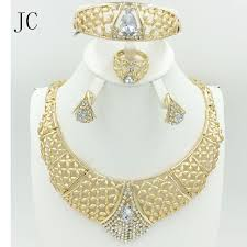 fashion necklace gold images 2016 new fine dubai african design fashion costume crystal earring jpg