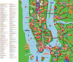 Map Of Brooklyn Ny Large Detailed New York Tourist Attractions Map New York City