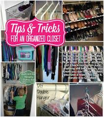 and tricks for an organized closet