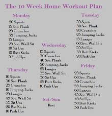 home work out plans the perfect 10 week home workout plan inshape magazine