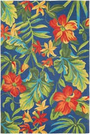 Hibiscus Rug Couristan Covington Tropical Orchid Rug Azure And Forest Green