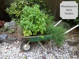 Herb Container Garden - diy reclaimed wheelbarrow container herb garden stylish spoon