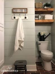 farmhouse bathroom makeover behr frosting and small grey bathrooms