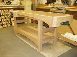Woodworking Bench Top Thickness by Furniture U0026 Accessories Wood Materials Of Workbench Top Design