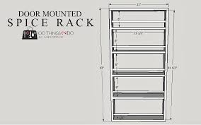 Spice Rack Plans Diy Door Mounted Spice Rack 100 Things 2 Do