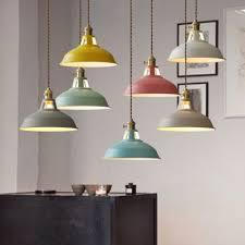 Barn Pendant Light Industrial Hanging Pendant Light With Colorful Barn Shade Mini