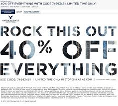 spirit halloween coupon pinned august 21st 40 off at american eagle outfitters