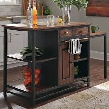 kitchen island with wood top donny osmond kitchen island with wood top reviews wayfair