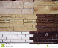fragment wall with different types of decorative coating stock