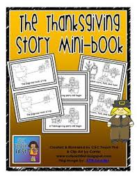 the thanksgiving story mini book by clip by carrie teaching