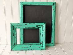 shabby chic frame 8x10 frame turquoise blue frame country style