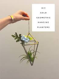 Geometric Hanging Planter by Diy Geometric Hanging Planters Delightful Details