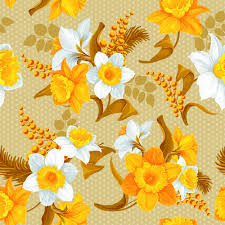 yellow flowers white and yellow flowers vector seamless pattern 02 vector