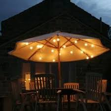 Patio Umbrella Lighting String Lights On The Patio Umbrella So Easy And Pretty House