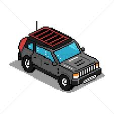 jeep vector pixel art jeep vector image 1959084 stockunlimited