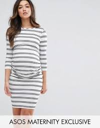 Black And White Striped Bodycon Dress Bodycon Dresses Bandeau Dresses Asos