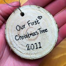 dashing diy ornaments trees tree slices and