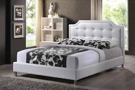 baxton studio bbt6376 white queen carlotta white modern bed with