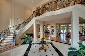 Dome Home Interior Design In The Foyer Marble Floors With Ornate Insets Mirror The 22