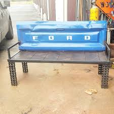 truck tailgate bench raymond guest at recycled salvage design