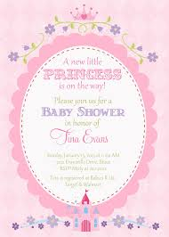 princess baby shower invitation templates free interior designing