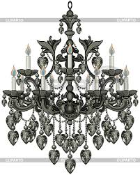 Black Chandelier Clip Art Baroque Stock Photos And Vektor Eps Clipart Cliparto