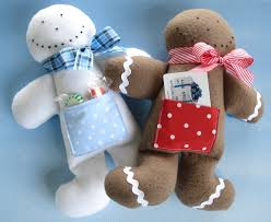 toy sewing pattern pdf epattern for gingerbread man and snowman