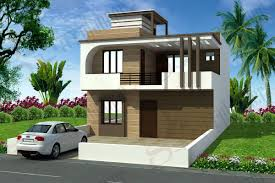 Front Elevations Of Indian Economy Houses duplex house plans duplex floor plans ghar planner