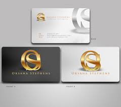 Fashion Photography Business Cards Elegant Playful Business Card Design For Oksana Stephens By