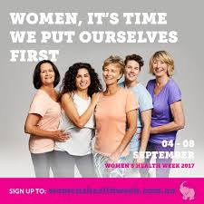 women s womens health week 4 8 september 2017 your health hub medical
