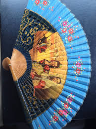 held fans vintage antique held fan spain