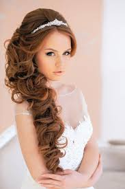 simple bridal hairstyle wedding curly hairstyles for long hair simple hairstyles for long
