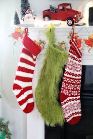 Christmas Stocking Decorations Grinch Stocking Diy The Sewing Rabbit