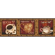 better homes and gardens wall decor better homes and gardens cafe au lait border coffee kitchen wall
