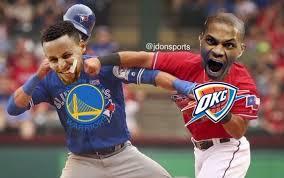Westbrook Meme - thunder warriors gets rougned odor jose bautista punch meme