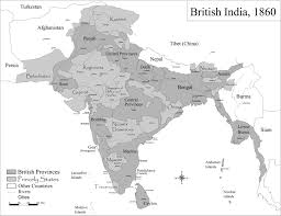 India Physical Map by Historic Maps British India Maps Of India