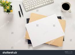 office desk table keyboard notebook pen stock photo 541171888