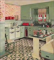 eclectic vintage kitchen design idea with light brown walls and