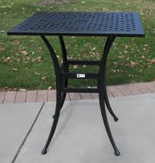 Square Patio Table Ansley Luxury 4 Person All Welded Cast Aluminum Patio Furniture