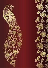wedding card design india peacock wedding card design royal india wall mural pixers