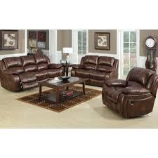 brown leather sofa and loveseat reclining loveseats u0026 sofas you u0027ll love wayfair