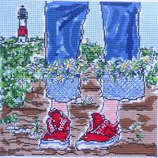 handpainted needlepoint canvas island by susan wallace