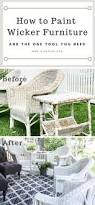 Spray Paint Wicker Patio Furniture - how to paint wicker furniture for a long lasting finish wicker