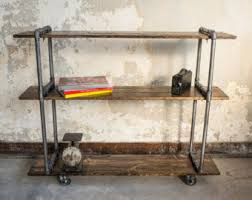 pipe tv stand etsy
