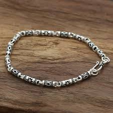 silver bracelet chains images Men 39 s biker bracelet sterling silver chain bracelets jpg