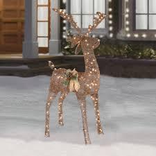 lighted reindeer 5 lighted buck reindeer decor christmas tree shops andthat