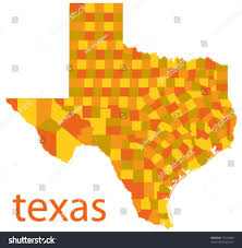 Tx State Map by Vector Map Texas State Usa Stock Vector 75251884 Shutterstock